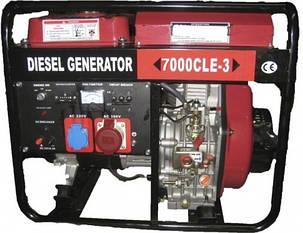 Генератор WM7000CLE диз/генератор 7,0Квт 3 ФАЗЫ ЦИЛИНДР СЪЕМНЫЙ, вес 116кг. Двигатель WM188FBE -12л.с. + БЕСПЛАТНАЯ ДОСТАВКА ПО УКРАИНЕ, фото 2