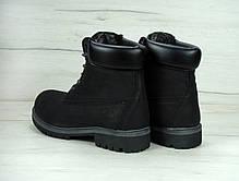 Зимние мужские ботинки Timberland на меху черные топ реплика, фото 3