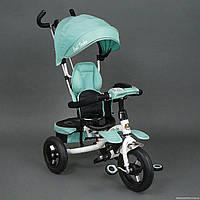 Велосипед трех колесный c надувными колёсами и фарой 6699 Best Trike