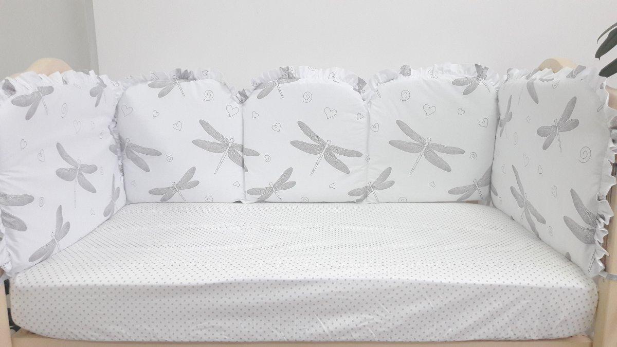 """Бортики в кроватку для малышей """"Стрекозы"""" ТМ «VIALL»"""