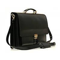 Портфель кожаный черный 0626012,00F