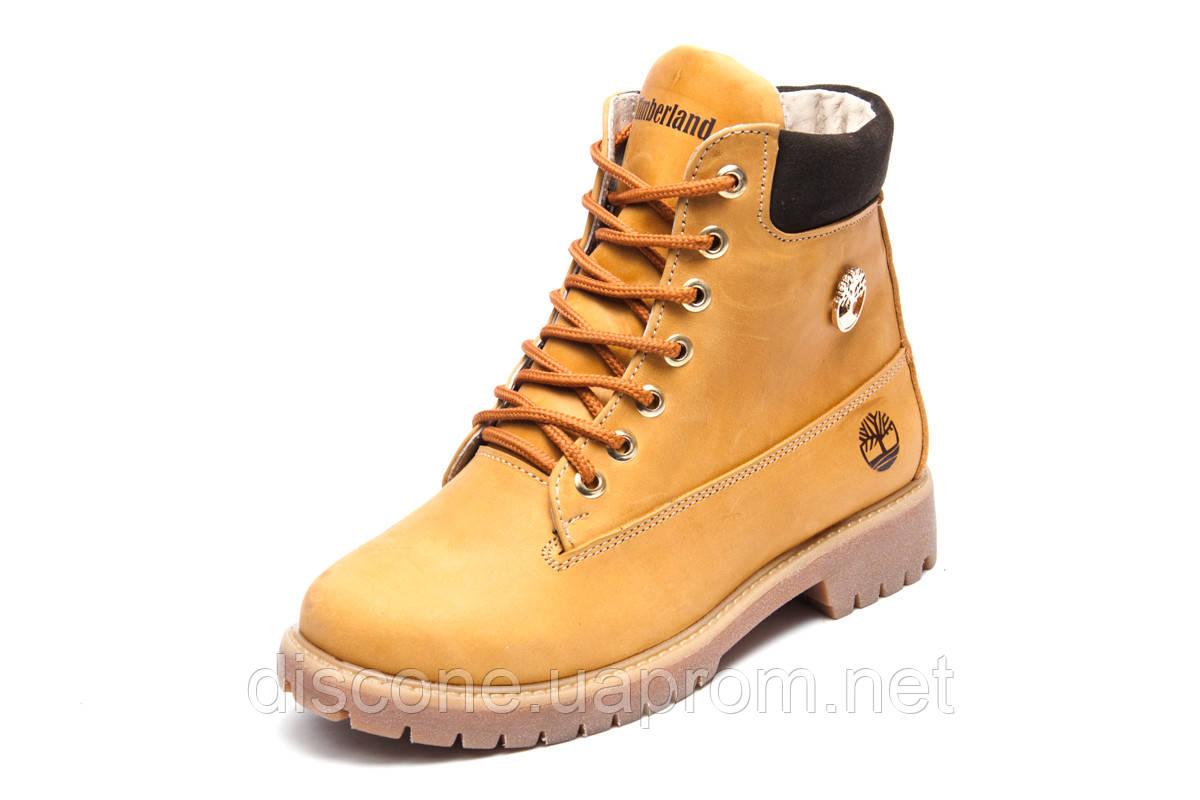 Зимние женские ботинки Timberland 6 inch, песочные, натуральная кожа, р. 36 37 38 39 40