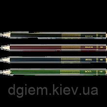 Набор карандашей графитовых BOSS 4шт НВ без ластика