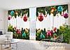 """Фото Шторы в зал """"Новогодняя"""" 2,7*4,0м (2 полотна по 2,0м), тесьма"""
