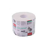 Туалетная бумага белая однослойная джамбо 100м Mirus, фото 1