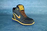 Детские зимние кроссовки Nike Синий\Рыжий 10539