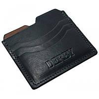 Кошелек для кредитных карт, кожа, черный 306510