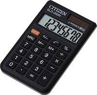 Простой карманный калькулятор citizen sld-200n, 8 разрядов, батарейка + солнечная панель, резиновые кнопки