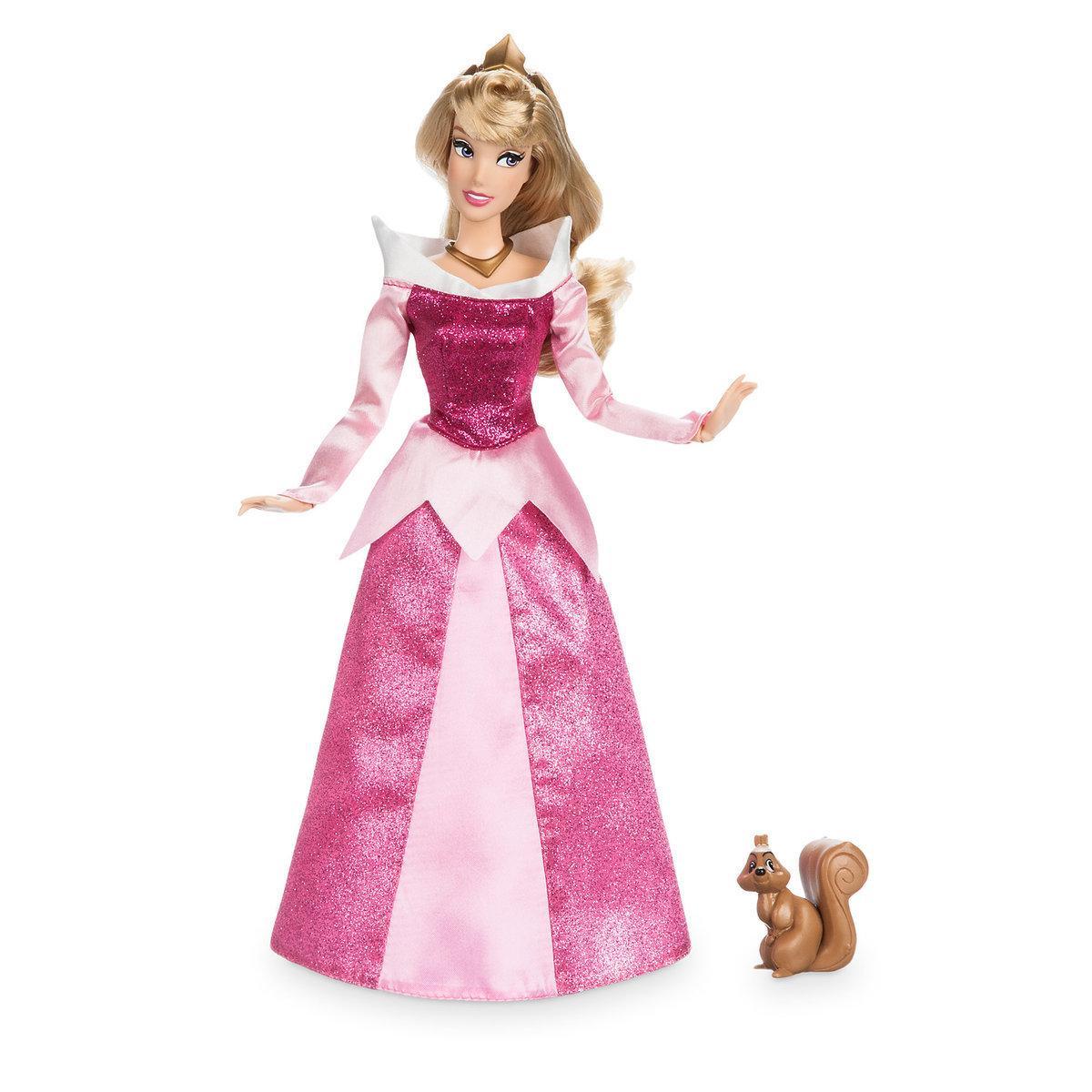 Disney Классическая кукла Принцесса Аврора с белочкой - Спящая Красави