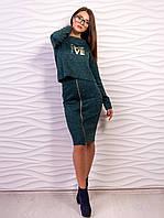 Костюм женский топ и юбка с молнией p.42-48 VM2076-3