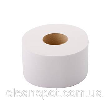 Туалетная бумага джамбо белая 2-шар 80 м Eco Point Clean