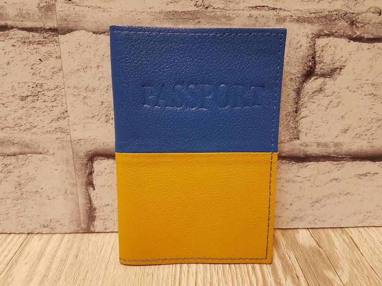Обложка для паспорта,натуральная кожа, комбинированная