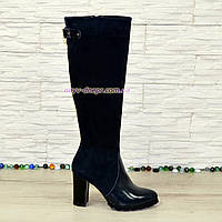 Сапоги женские демисезонные на высоком устойчивом каблуке. 37 размер
