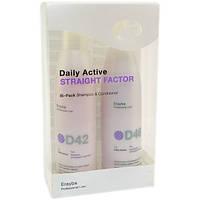 Набор для выравнивания волос  ERAYBA D42/D46 STRAIGHT FACTOR (шампунь+кондиционер)