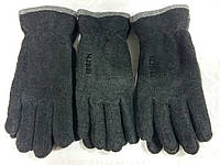 Флисовые мужские перчатки двойные оптом