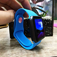 Силиконовый ремешок для  Apple Watch 38 mm голубой