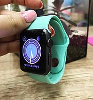 Силиконовый ремешок для  Apple Watch 38 mm ментоловый