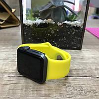 Силиконовый ремешок для  Apple Watch 38 mm желтый
