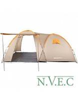 Палатка туристическая четырехместная КЕМПИНГ Tougether 4PE, бежевая (420х250х160/180см)