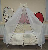 Детское постельное белье Bonna Корона Ангел бежевый, ткань плюш