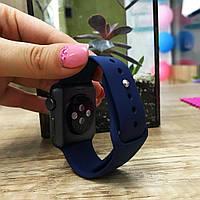 Силиконовый ремешок для  Apple Watch 42 mm темно-синий