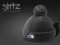 Стильная мужская/женская шапка с помпоном/бубоном TNF, фото 1