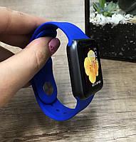 Силиконовый ремешок для  Apple Watch 42 mm синий