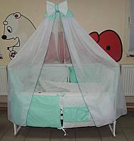 Детское постельное белье Bonna Корона Ангел мята, ткань плюш