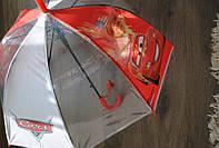 Детский зонт трость, полуавтомат силикон прозрачный зтд7