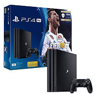 Игровая приставка SONY Playstation 4 Pro 1Tb Black (FIFA 18/ PS+14Day)