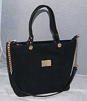 Сумка трапеция Louis Vuitton замшевая, цвет черный ЛУи Виттон ЛВ LV