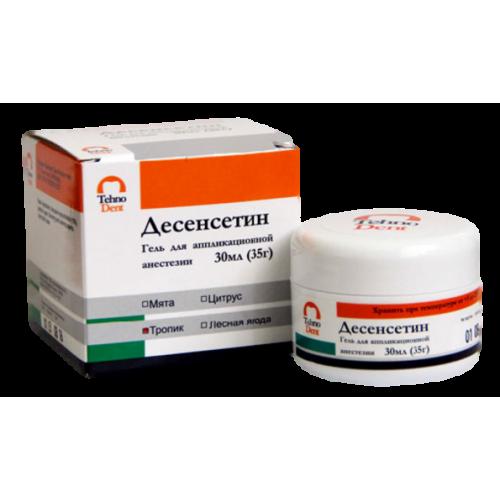 Десенсетин гель д/аппликац анестезии 30мл (35гр) Тропик