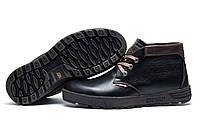 Зимние мужские ботинки Clarks Originals, натуральная кожа, на меху, чёрные, р. 40 41 42 43 44 45