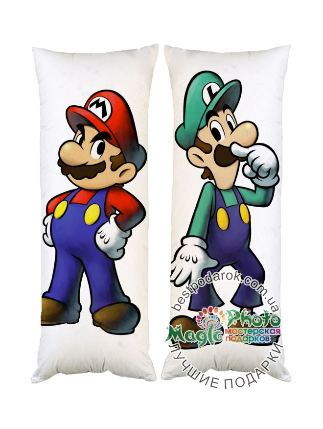 Подушка Дакимакура Супер Братья Марио 40*100см
