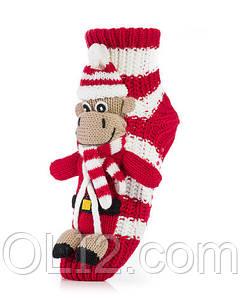 Женские носки ATTRACTIVE  3 D игрушка Обезьяна новогодняя