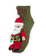 Женские детские носки ATTRACTIVE  3 D игрушка дед мороз 2018