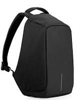 Рюкзак Bobby черный, с защитой от вскрытия и с зарядкой для гаджетов, фото 1