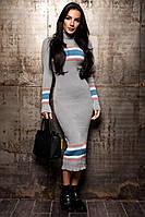 Теплое вязанное платье из итальянской пряжи