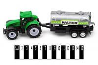 """Трактор  """"Фермер"""" інерц. з бочкою  (ковпак)  9975-4 р.22*6*7см/384/"""