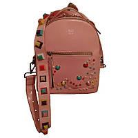 Рюкзак - сумка Fendi GS106 маленький розовый