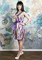 Платье летнее атласное Сиена (перья)