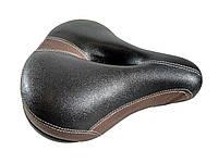 """Велосипедное седло """"Черно-коричневое"""" 230х260мм"""