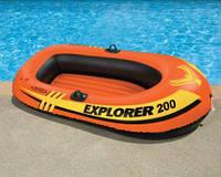 Лодка двухместная,  для взрослого и ребенка, 196*102*33 см