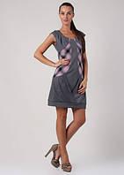 Платье-туника трикотажная с вставками П74