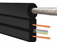 Кабель  оптический  FTTH-001-SM-MR, 2000м = 1бхт, 1 волокно, несущий оцинкованный стальной трос.