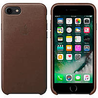 Чехол Apple Leather Case Brown  для iPhone 7 / 8