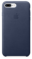 Чехол Apple Leather Case Mindnight Blue для iPhone 7 Plus / 8 Plus