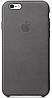Чехол Apple Leather Case Gray для iPhone 7 / 8