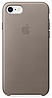 Чехол Apple Leather Case Taupe для iPhone 7 / 8