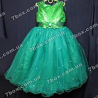 Детское нарядное платье бальное Пайетки (зеленое) Возраст 6-7 лет., фото 1